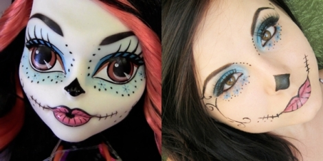 skelita monster high makeup