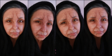 old woman makeup tutorial