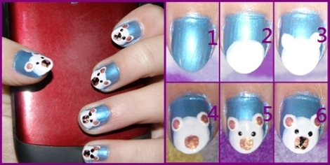polar bear nail tutorial