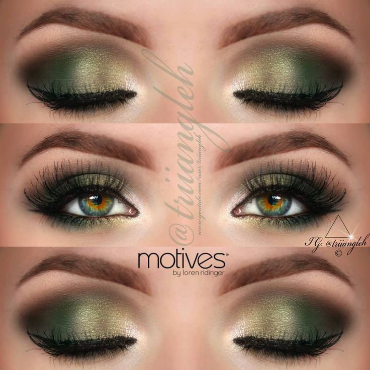 Makeup Looks For Green And Hazel Eyes Cat Eyes Red Lips