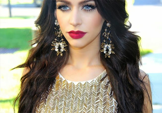 Makeup Looks For Blue Eyes Cat Eyes Red Lips