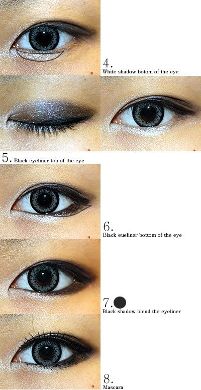 Makeup for asian/almond eyes | Cat Eyes Red Lips