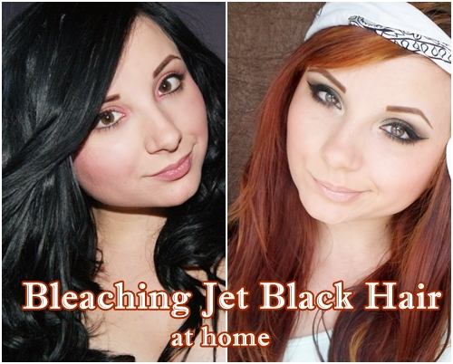 Bleaching JET BLACK hair- SYOSS LIGHTENERS review | Cat Eyes Red Lips