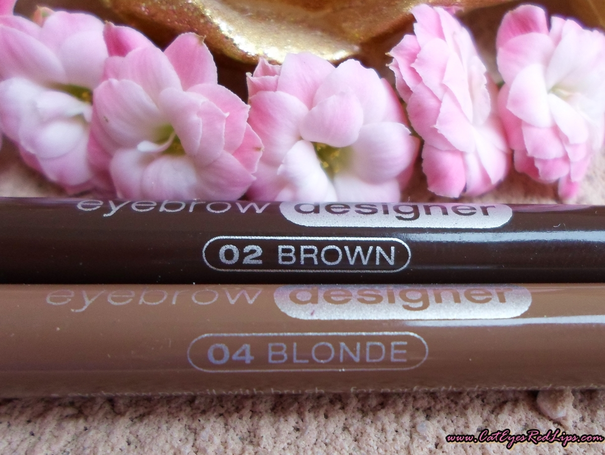 Essence Eyebrow Designer Pencils In Blonde And Brown Review Cat