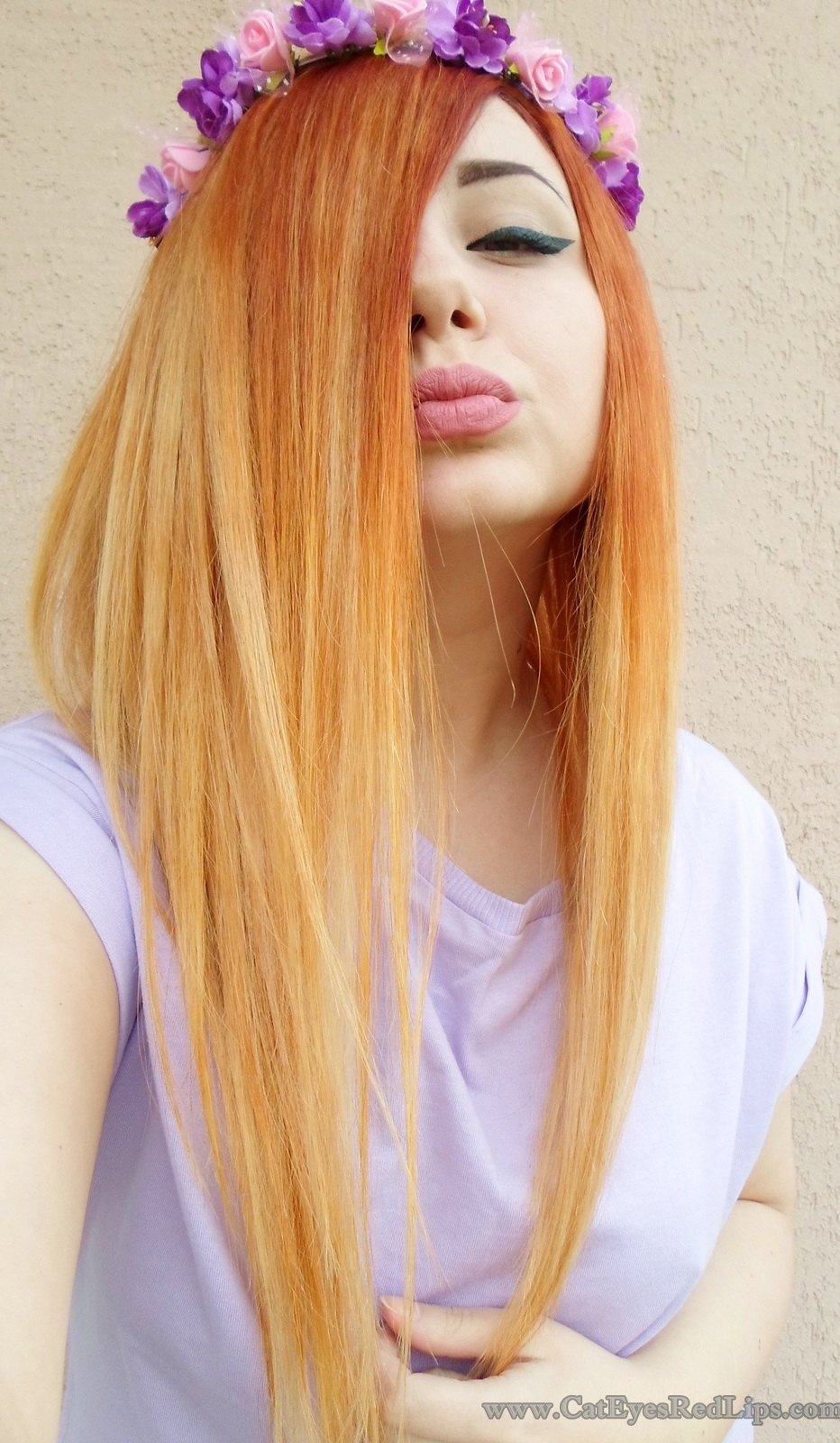 how to dye cliphair extensions into ombre cat eyes red lips. Black Bedroom Furniture Sets. Home Design Ideas
