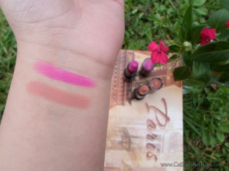 makeup revolution crime and the one swatches