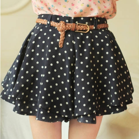polkadot skirt black