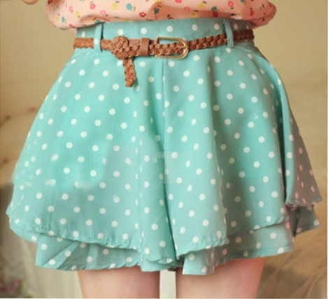 polkadot skirt green