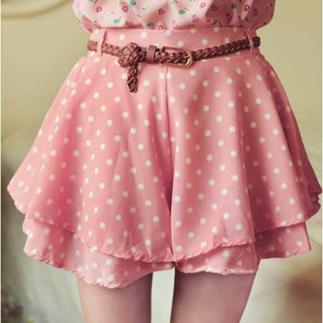 polkadot skirt pink