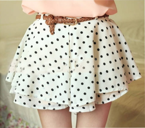 polkadot skirt white